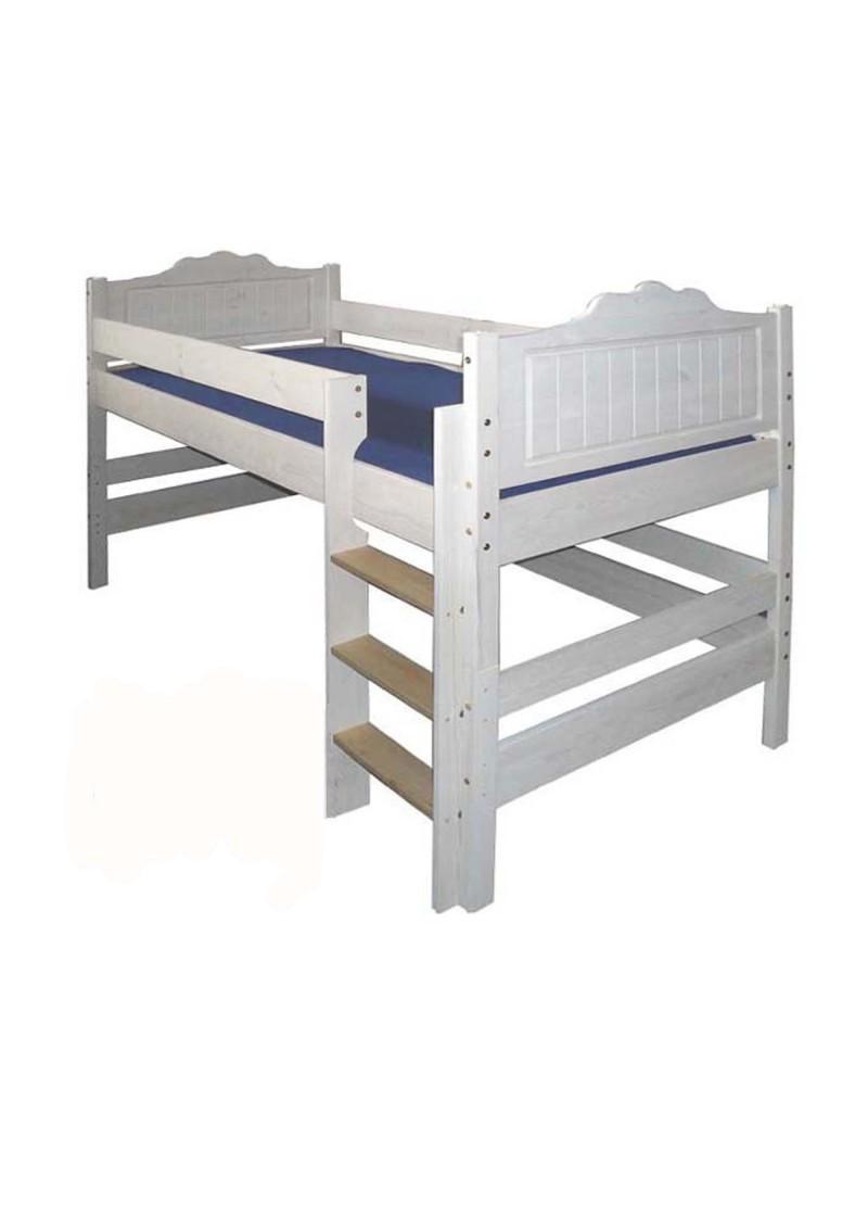 hochbett bayreuth halbhochbett mit rollrost verwandlungsbett holz massiv aus nachhaltiger. Black Bedroom Furniture Sets. Home Design Ideas
