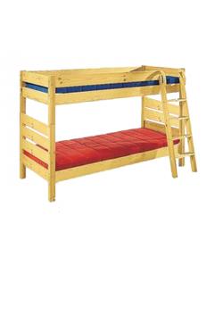 """Verwandlungsbett """"Vario"""", Hoch-, Etagen- oder 2  x Einzelbett,  Kindermöbel aus Holz mit 2 Rosten, vom deutschen Hersteller"""