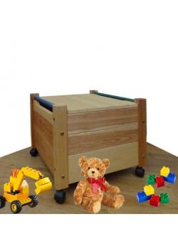 """Spielzeugkiste """"Comtesse"""" mit Deckel, aus Holz, Spielzeugwagen mit Rollen, ohne Schadstoffe,  direkt vom deutschen Hersteller"""