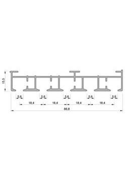 Schiebevorhang-Schiene nach Maß, 5 Lauf