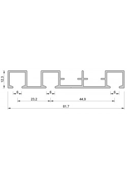 Aluminium Gardinenschiene Objekt Vorhangschiene 3 Lauf