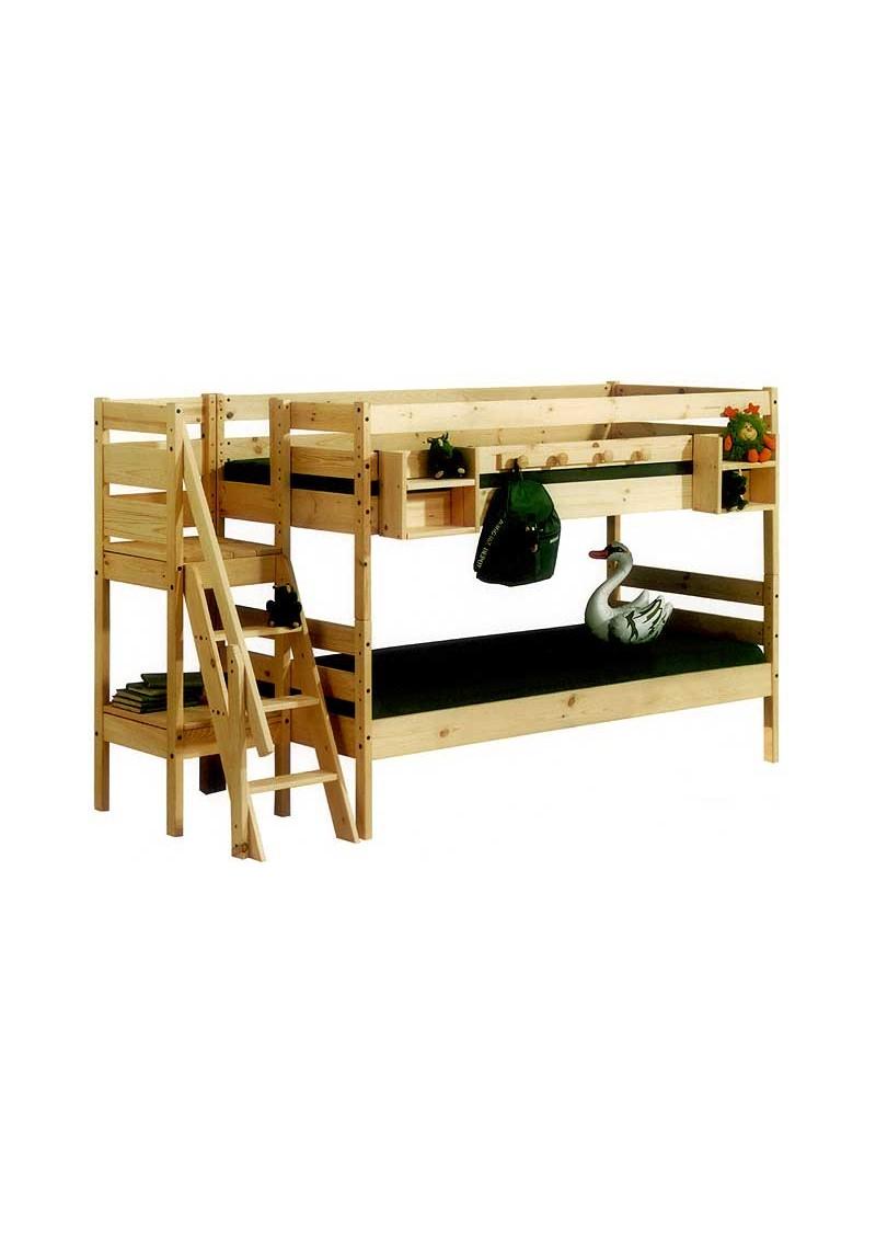etagenbett primus kinderm bel aus holz massiv ge lt teilbar mit rost direkt vom deutschen. Black Bedroom Furniture Sets. Home Design Ideas
