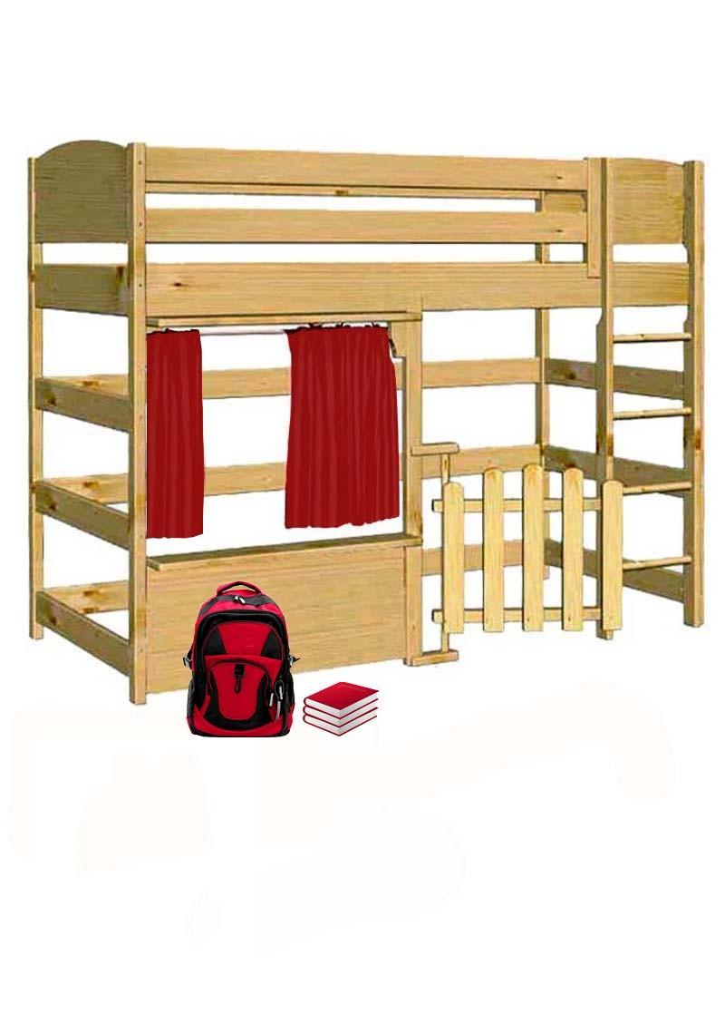 spielbett basis kinder hochbett massivholz direkt vom. Black Bedroom Furniture Sets. Home Design Ideas