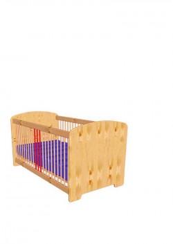 """Babybett """"petit"""" 60x120 cm Kinderbett aus Massivholz"""