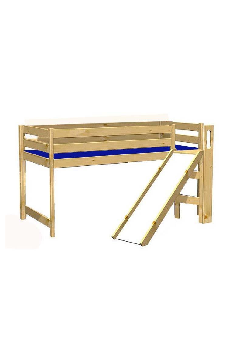 hochbett mit rutsche holz massiv rollrost bio qualit t. Black Bedroom Furniture Sets. Home Design Ideas