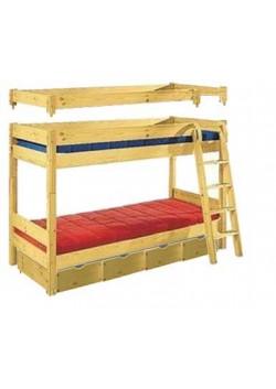 Hochbett/Etagenbett umbaubar, Kinderbett Kiefer,Verwandlungsbett , vom deutschern Hersteller