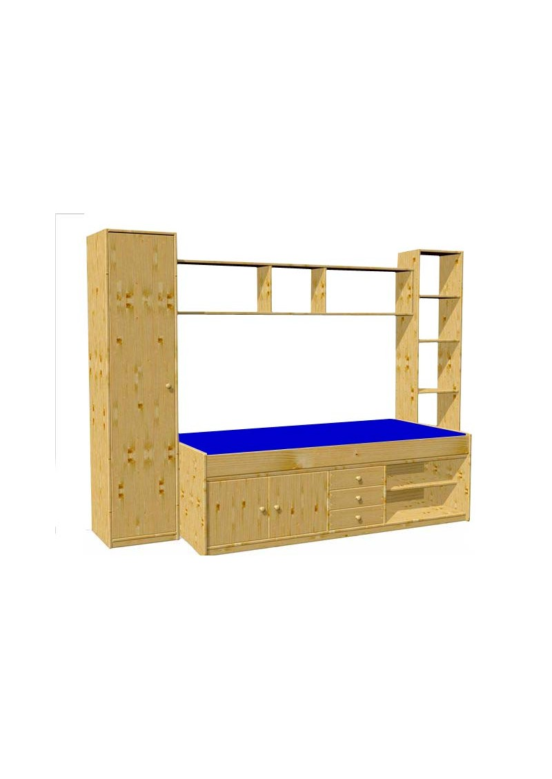 Jugendzimmer arkona holz massiv fsc schubladenbett for Jugendzimmer holz massiv