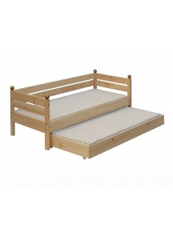 """Kinderbett """"Comtesse"""" 70x160 cm, mit Bettrollkasten, Holz massiv"""