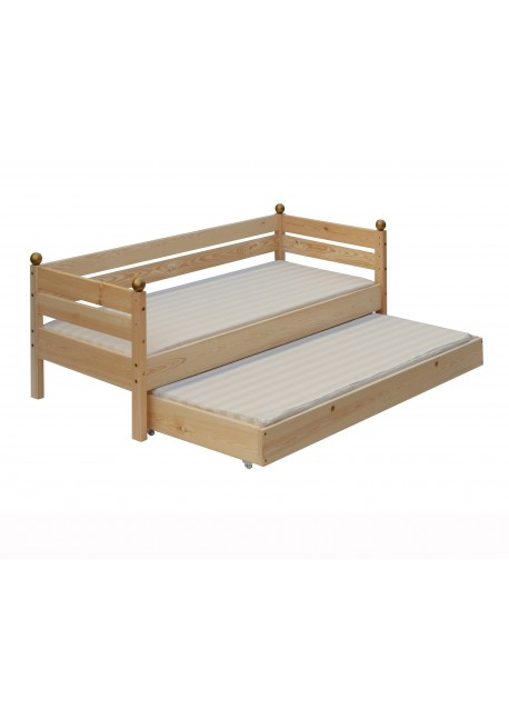 kinderbett comtesse 70x160 cm mit bettrollkasten holz massiv silenta produktions gmbh. Black Bedroom Furniture Sets. Home Design Ideas