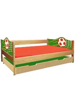 "Jugendbett ""Soccer"" 90x200 cm Sofabett mit 2 Liegeflächen, Holz massiv"