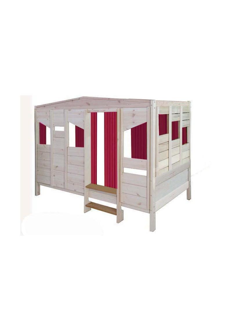 kinderbett baumhaus steigerwald kinder holzhaus h ttenbett aus holz massiv silenta. Black Bedroom Furniture Sets. Home Design Ideas