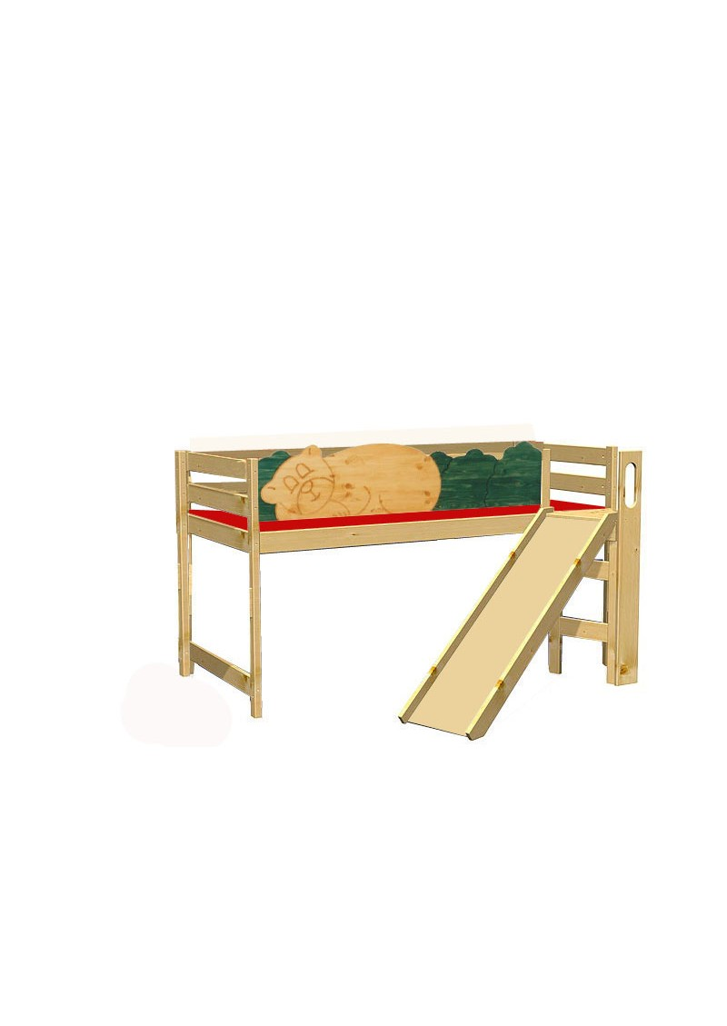 kinder hochbett mit rutsche holz massiv rausfallschutz rollrost b r silenta produktions gmbh. Black Bedroom Furniture Sets. Home Design Ideas