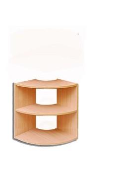 Außenbogen-Regal Abschlussregal Massivholz in 4 Höhen direkt vom Hersteller