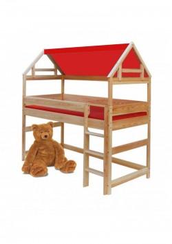 Haus- Aufsatz in Fachwerk-Optik für Kinderbetten 90x200cm