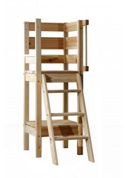 Etagenbett-Treppe  Sicherheitstreppe 140 cm,  Holz massiv, 3 Stufen