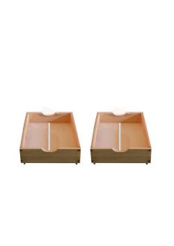 """Bettrollkasten """"mini""""Stauraumbox 2 Stück  48 x 45 x 16,5 cm  cm, Holz Bio Qualität"""
