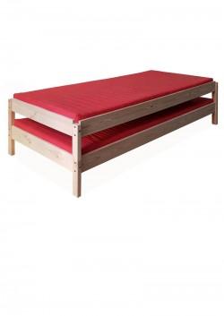 2 Stapelbetten,  Holz Liegen  60 x 120 cm, Kiefer Holz massiv, direkt vom deutschen Hersteller