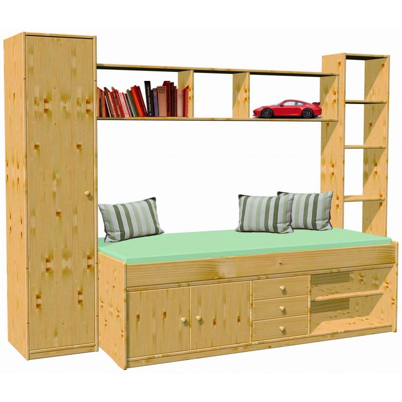 Jugendzimmer Kinderzimmer Arkona Mit Bett Kleider Wäscheschrank Stand Regal Und Wand Regal Direkt Vom Hersteller Kaufen Farbe Naturbelassen
