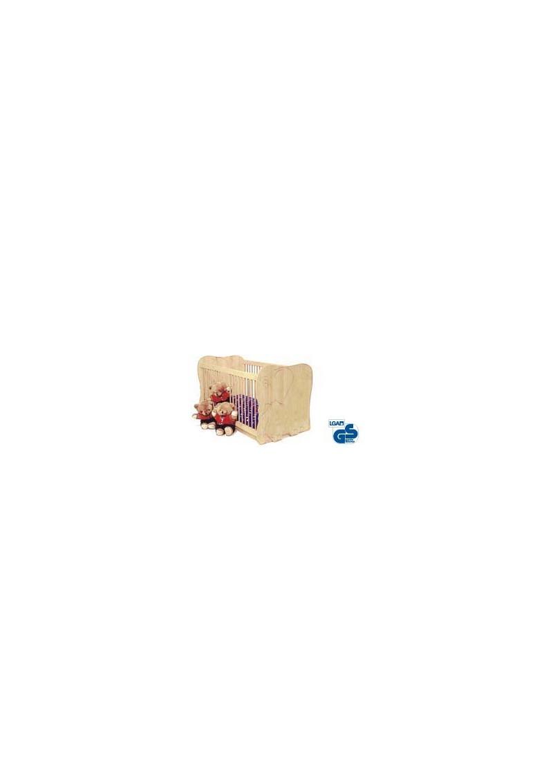 kinderbett babybett elefant 70 x 140cm massivholz ge lt silenta produktions gmbh. Black Bedroom Furniture Sets. Home Design Ideas