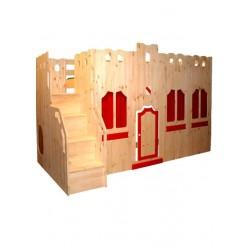 Kinder Hochbett Holz massiv...