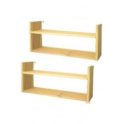 2 Hängeregale Holz 70 cm...