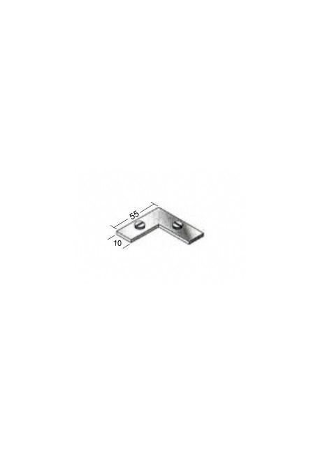 Eckverbindung 90° für Gardinenschienen aus Aluminium