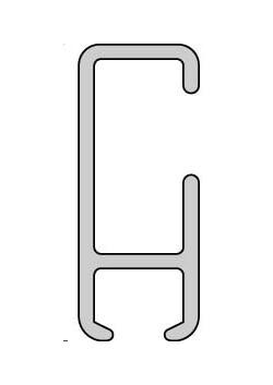 Gardinenschiene nach Maß, Aluminium weiß, 1Lauf