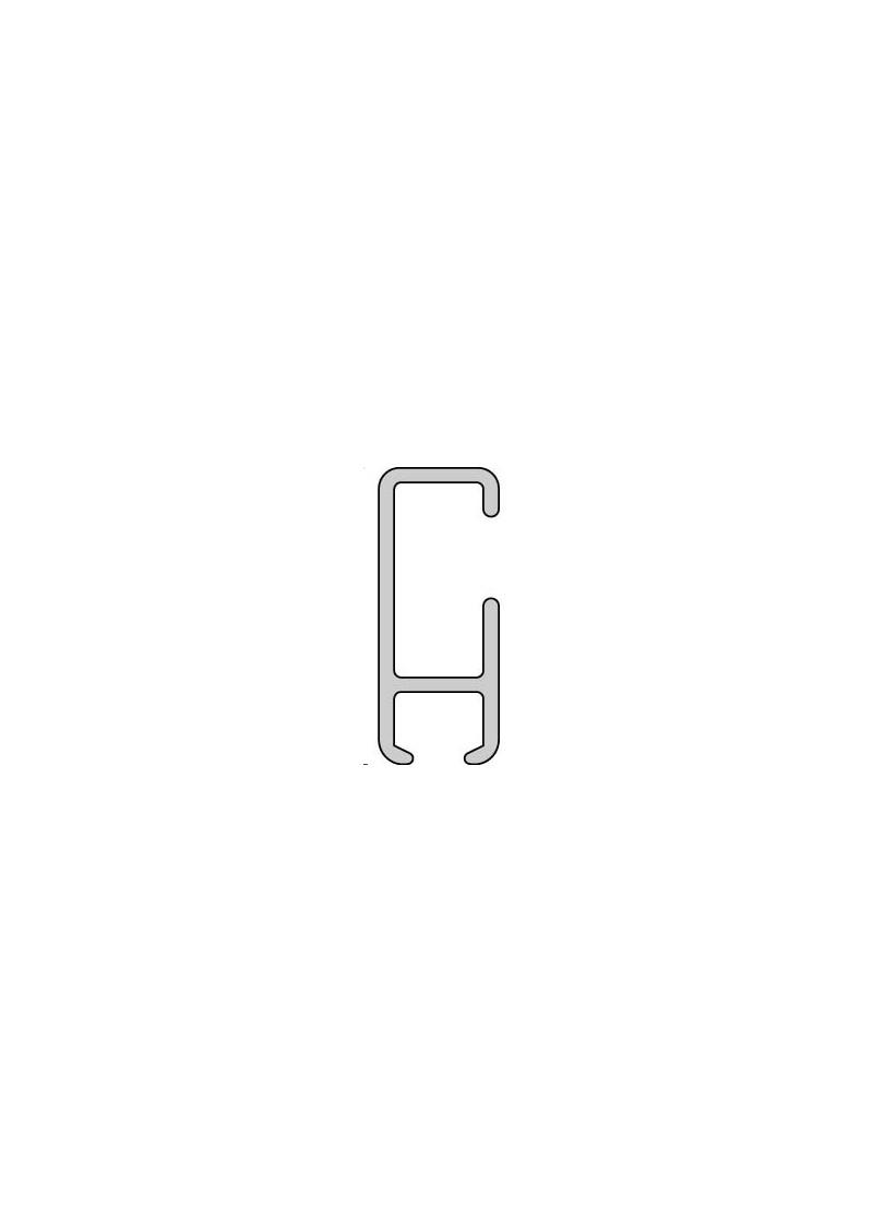 gardinenschiene nach ma aluminium wei 1lauf silenta produktions gmbh. Black Bedroom Furniture Sets. Home Design Ideas