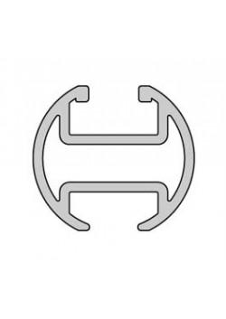 Gardinenschiene aus Aluminium,  Rohrschiene Ø 20 mm mit Innenlauf