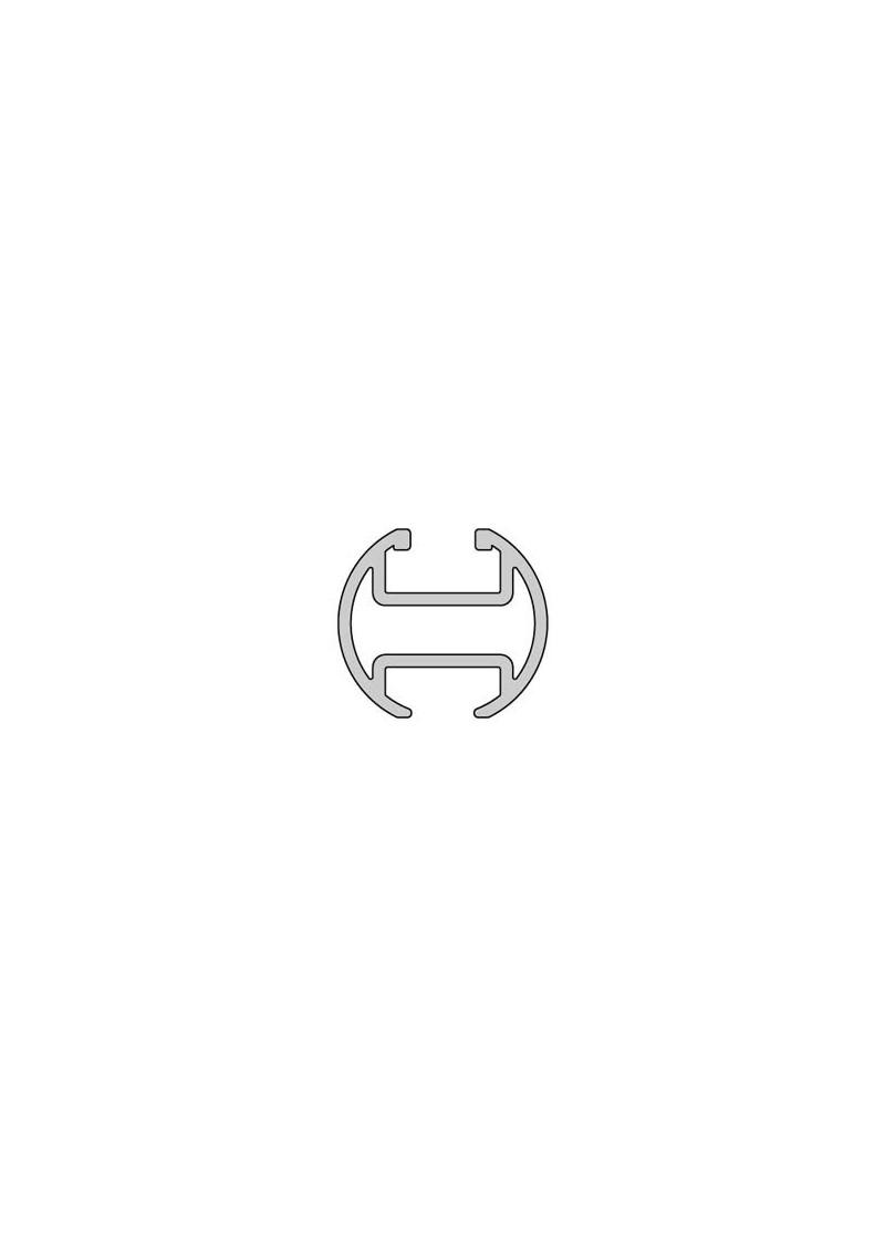 gardinenschiene aus aluminium rohrschiene mit innenlauf silenta produktions gmbh. Black Bedroom Furniture Sets. Home Design Ideas