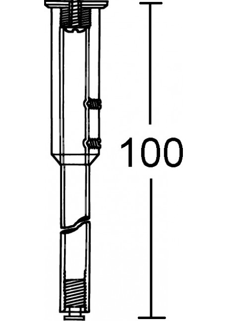 Deckenabhängung 100 cm
