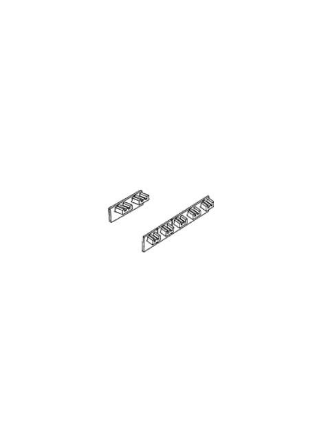 Abdeckkappe für Schiebevorhang-Schiene, 1 Paar