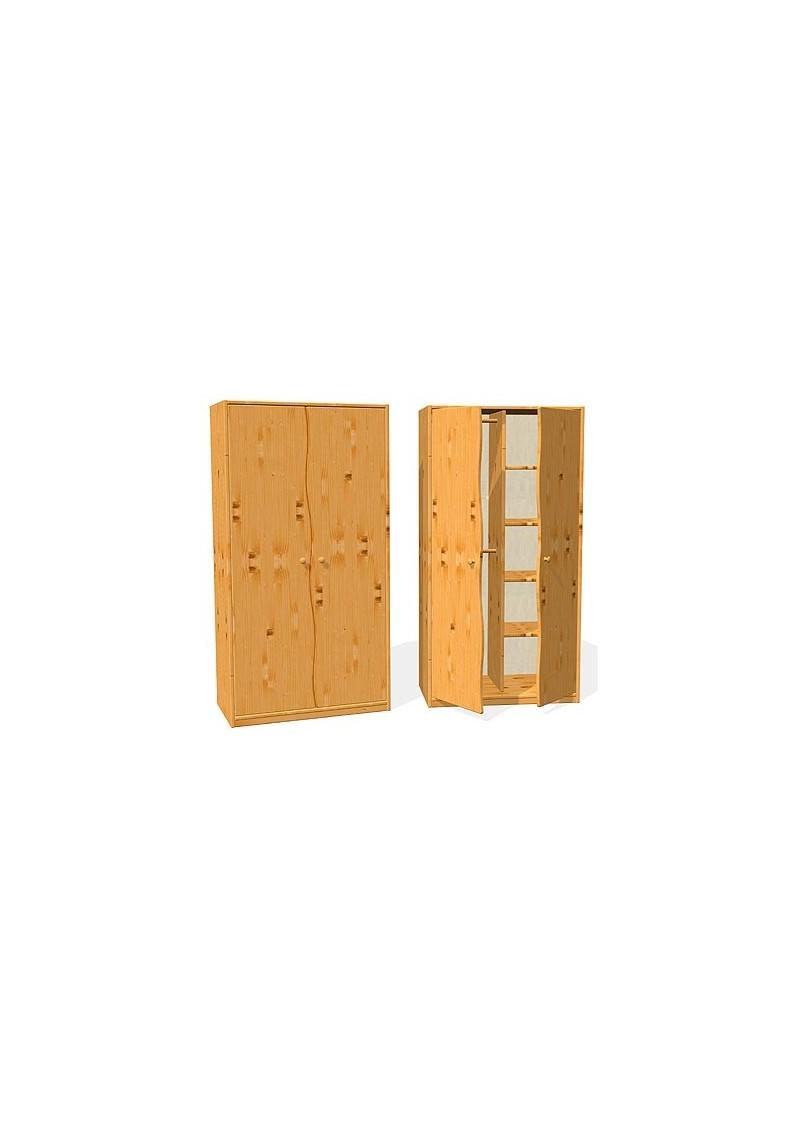 Kleiderschrank aus Holz Welle Bio Qulität ohne