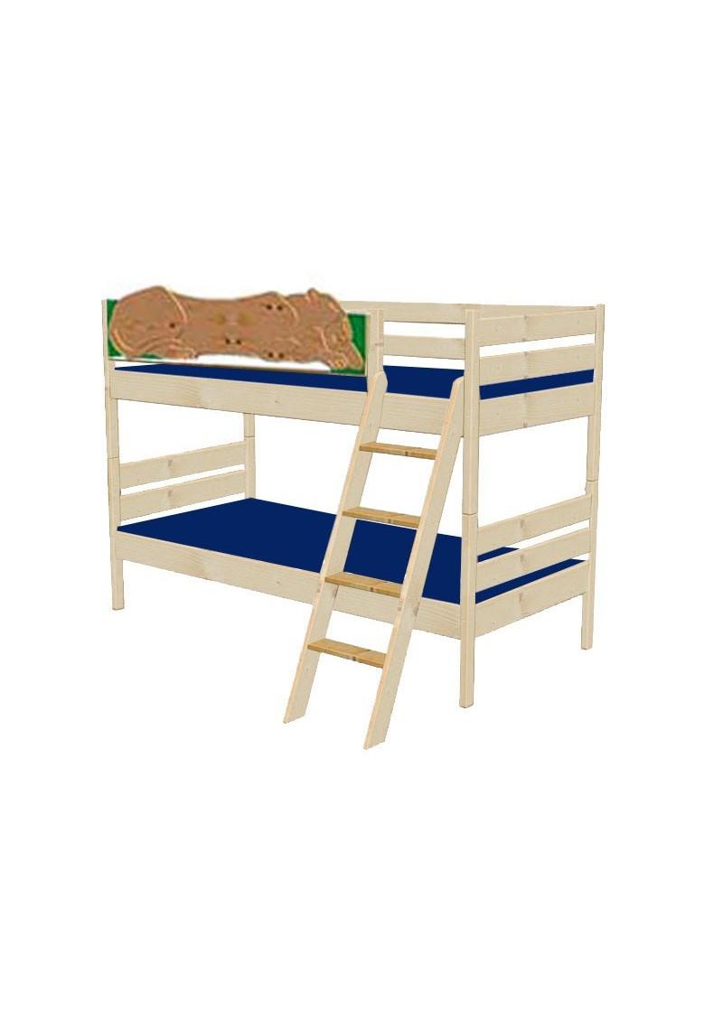 kinder etagenbett leo holz massiv ge lt teilbar mit rost silenta produktions gmbh. Black Bedroom Furniture Sets. Home Design Ideas