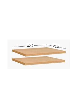 Regalzubehör - 2 Fachböden zu Regalen mit 44 cm Breite