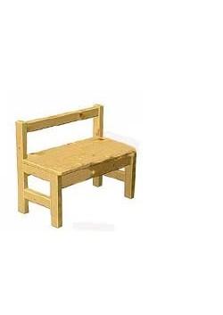 Kinder Sitzbank Massivholz mit Rückenlehne,  günstig direkt vom Kindermöbel Hersteller
