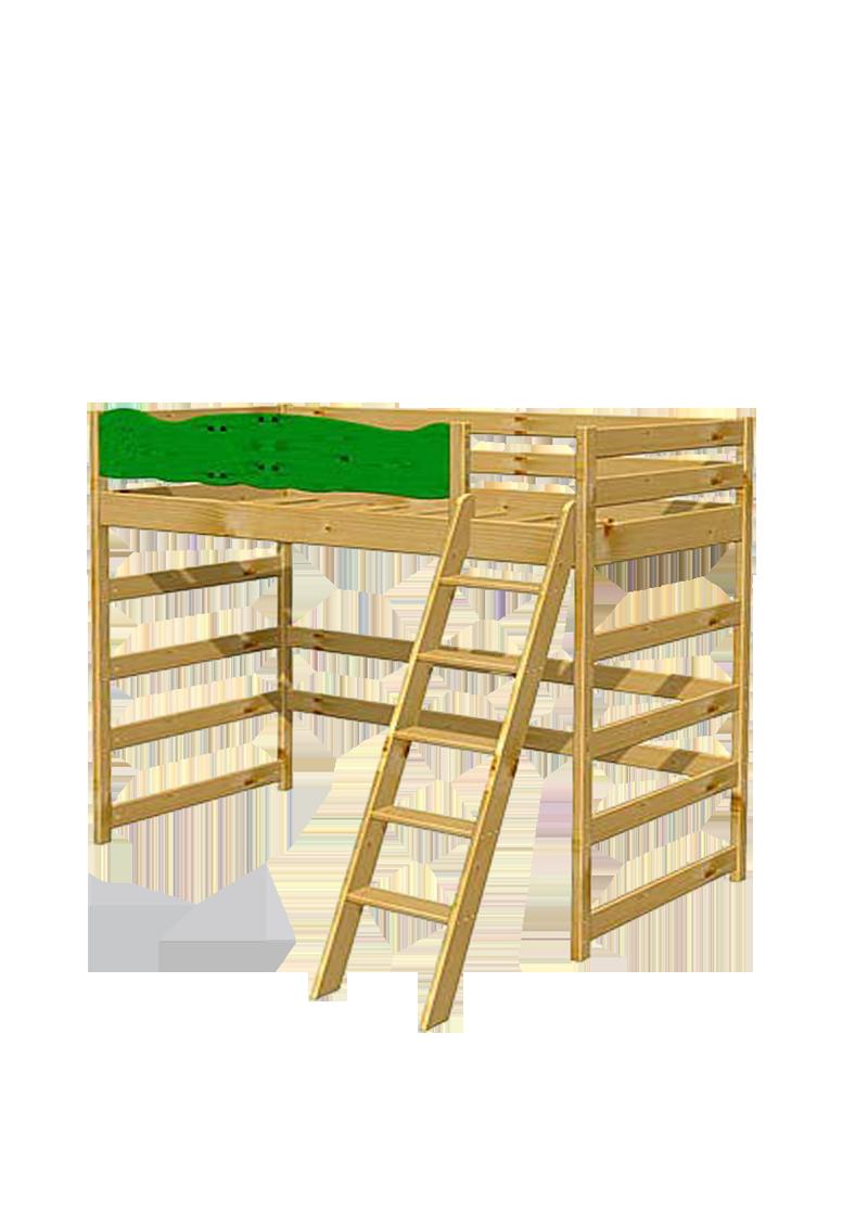 hochbett robby holz massiv mit rausfallschutz direkt vom kinderm belhersteller silenta. Black Bedroom Furniture Sets. Home Design Ideas