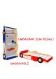 Kinderbett Autobett Ferraribett mit Rost, direkt vom Hersteller
