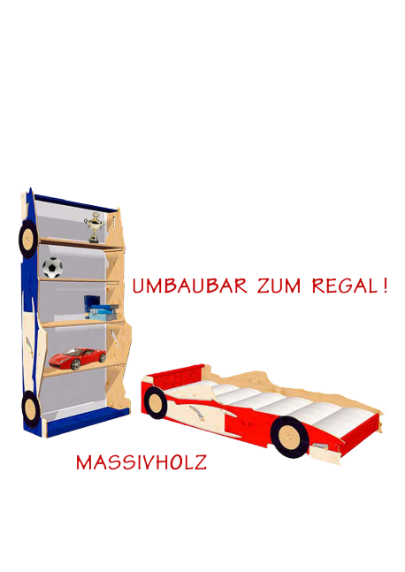 rennwagen kinderbett super drive mit rost umbaubar zum. Black Bedroom Furniture Sets. Home Design Ideas
