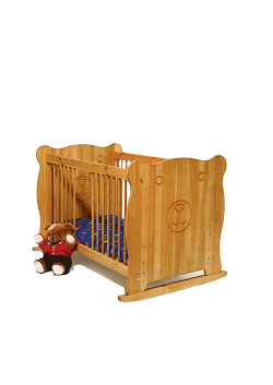 """Babybett """"Bär"""" Kinderbett aus FSC® zertifiziertem Massivholz,  geölt und gewachst"""