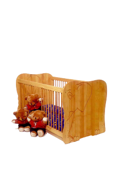 "Babybett ""Elefant"" Kinderbett aus FSC® zertifiziertem Massivholz"