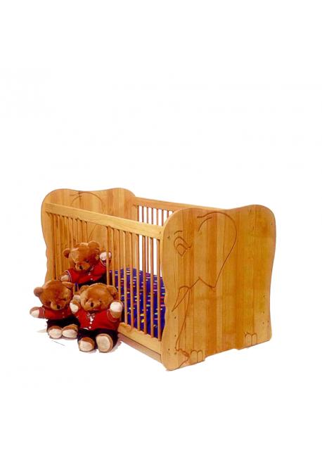 babybett naturholz jabadabado mobile stange aus holz fr. Black Bedroom Furniture Sets. Home Design Ideas