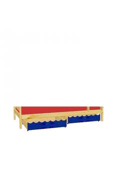 2 Rollkästen  85 x 71 x 18  cm Holz mit Rollen