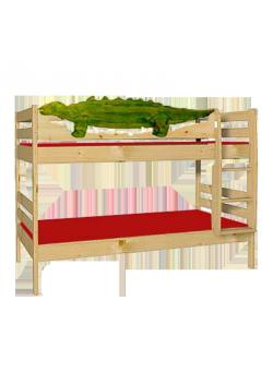 """Etagenbett """"Dino"""", Kindermöbel aus Holz massiv FSC® geölt, teilbar, umbaubar, mit Rost, direkt vom deutschen Hersteller"""