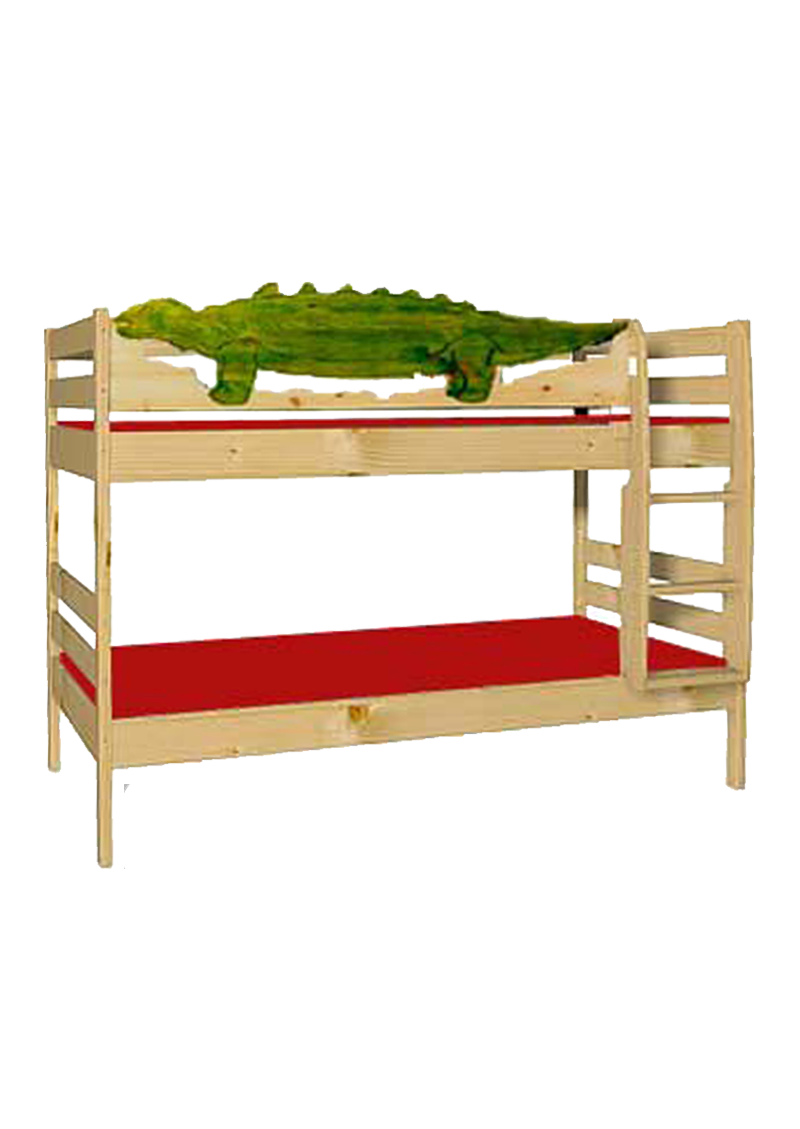 kinder etagenbett dino aus holz massiv teilbar inkl 2 roste silenta produktions gmbh. Black Bedroom Furniture Sets. Home Design Ideas