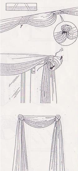 gardinen drapieren anleitung pauwnieuws. Black Bedroom Furniture Sets. Home Design Ideas