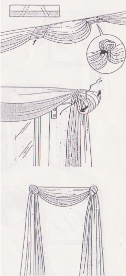 gardinen dekorieren anleitung pauwnieuws. Black Bedroom Furniture Sets. Home Design Ideas