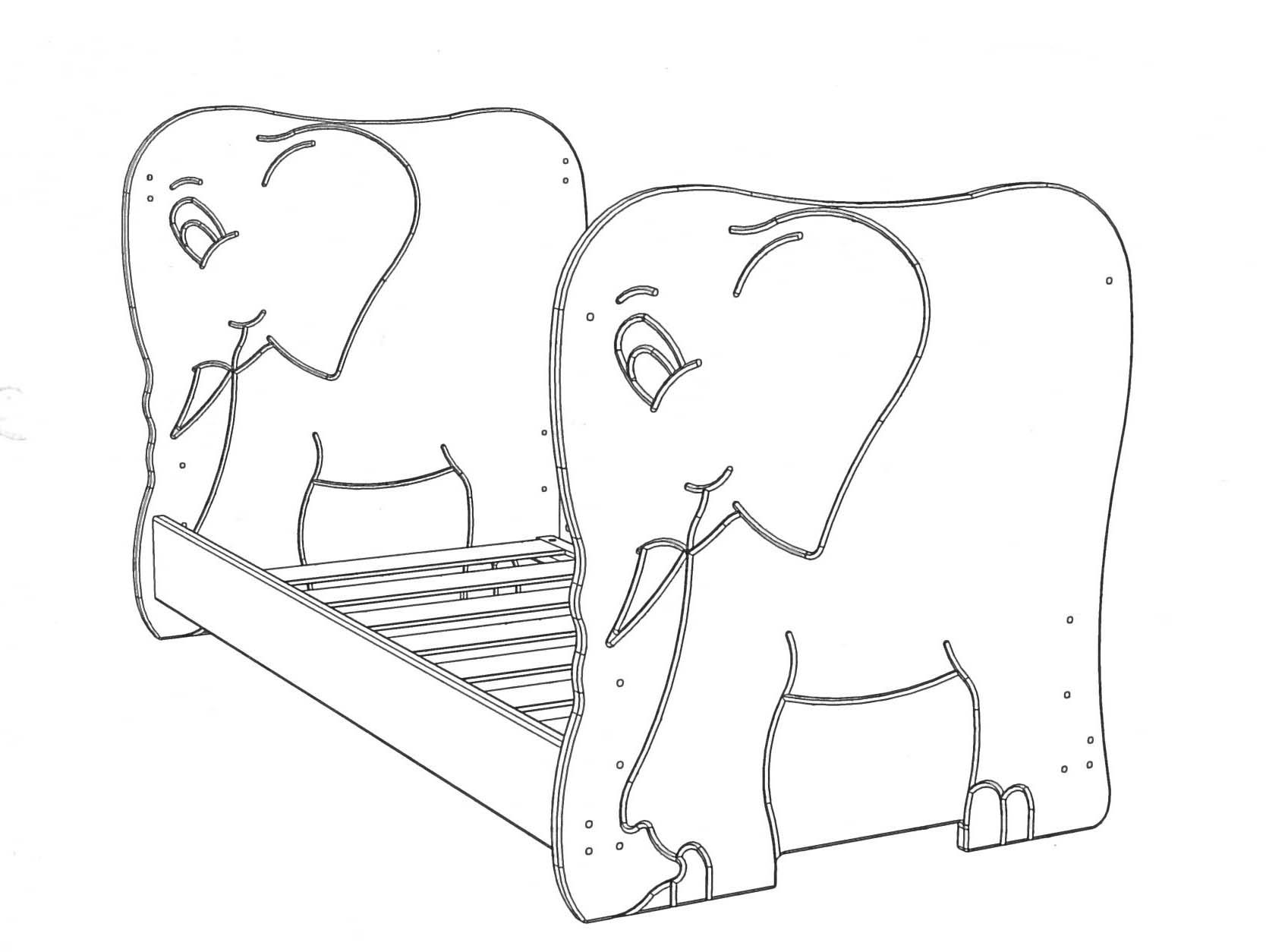 babybett elefant kinderbett holz massiv 70x140 cm ohne schadstoffe online vom hersteller. Black Bedroom Furniture Sets. Home Design Ideas